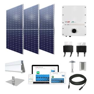 15.4kW solar kit Axitec 385 XL, SolarEdge optimizers
