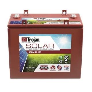 1.6 kWh Trojan 12V Solar AGM Battery SAGM 12 135