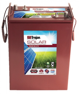 2.3 kWh Trojan 6V AGM Battery SAGM 6 375