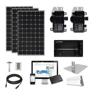 25.3kW solar kit CSUN 390 XL, Enphase micros