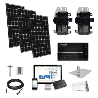 30.3kW solar kit LG 370, Enphase micro-inverters