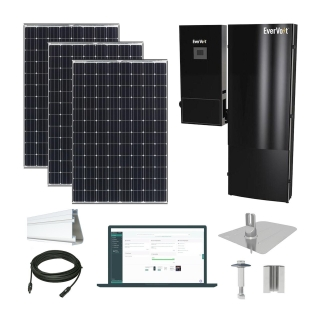 30kW solar kit Panasonic 330, EverVolt Hybrid inverter
