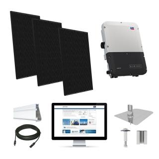 3.2kW solar kit Q.Cells 320, SMA inverter