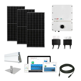 4.4kW solar kit Axitec 320, SolarEdge HD optimizers