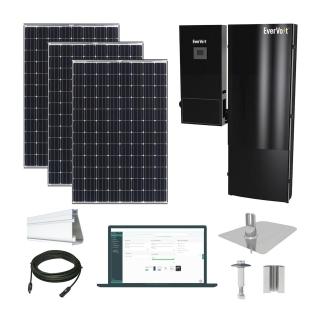 5.3kW solar kit Panasonic 330, EverVolt Hybrid inverter
