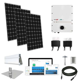 6.3kW solar kit LG 370, SolarEdge HD optimizers