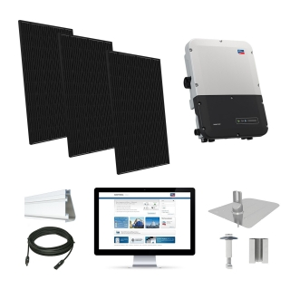 6.4kW solar kit Q.Cells 320, SMA inverter