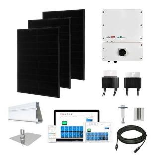 6.4kW Solaria 360 kit, SolarEdge HD inverter