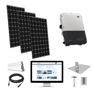 7.4kW solar kit LG 370, SMA inverter