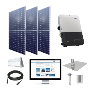 7.7kW solar kit Axitec 385 XL, SMA Sunny Boy