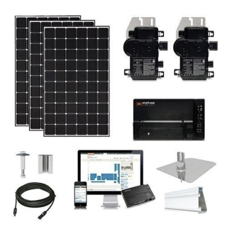 7kW solar kit CSUN 390 XL, Enphase micros