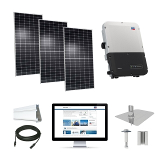 8.1kW solar kit Hyundai 370 XL, SMA inverter
