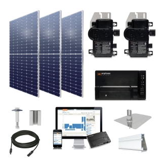 8.5kW solar kit Axitec 385 XL, Enphase Microinverters