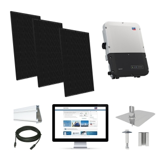 8kW solar kit Q.Cells 320, SMA inverter