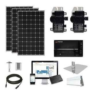 9.3kW solar kit CSUN 390 XL, Enphase micros