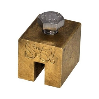 Metal roof clamp for copper standing seam, S-5-B-Mini brass finish