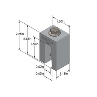 Metal roof clamp S-5-N-mini-1.5 got triangle type profiles