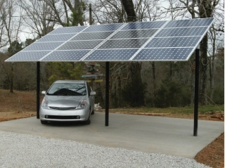 Solar Carport Mount for 32 Panels
