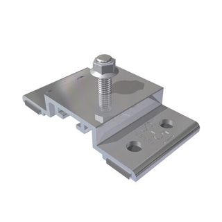 SolarFoot mount for exposed fastener metal roofing