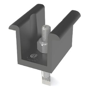 UniRac 30-51mm Universal Mid Clamp, SolarMount Pro-Series (M)