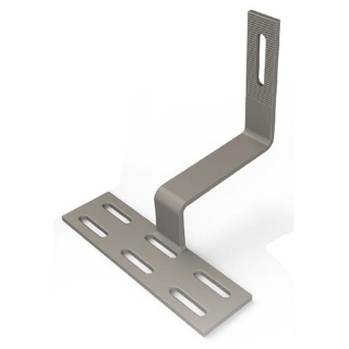 "UniRac Tile Roof Hook, Spanish Tile Side Mount with 2 #14 X 3"" Screws"