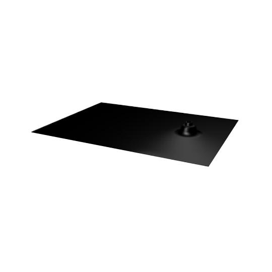 Ecolibrium Solar EcoX Composition Shingle Flashing Black