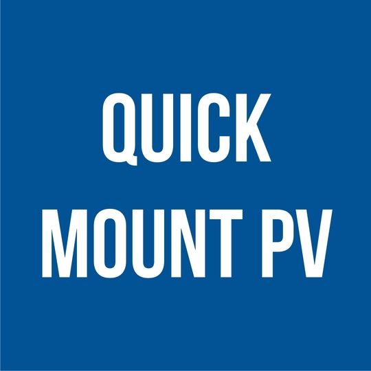 Quick Mount PV Aluminum Tile Replacement Mount with Flat Tile Flashing & 3/4