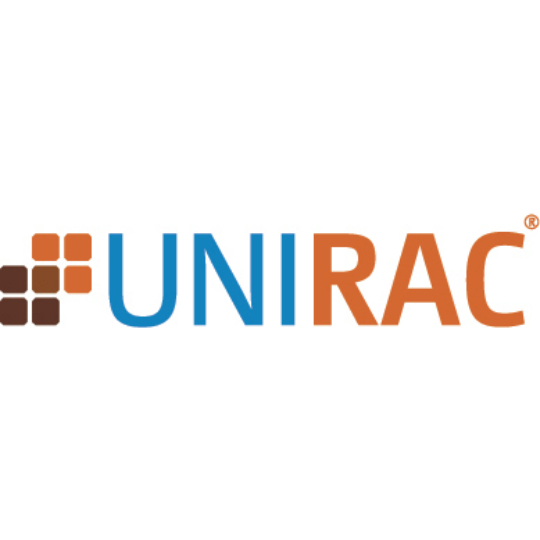 Unirac Solarmount End Clamp F with Hardware Clear Anodized