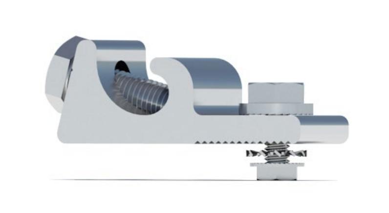 IronRidge BX System PV Grounding Lug, PV-LUG-01-A1, Qty 1