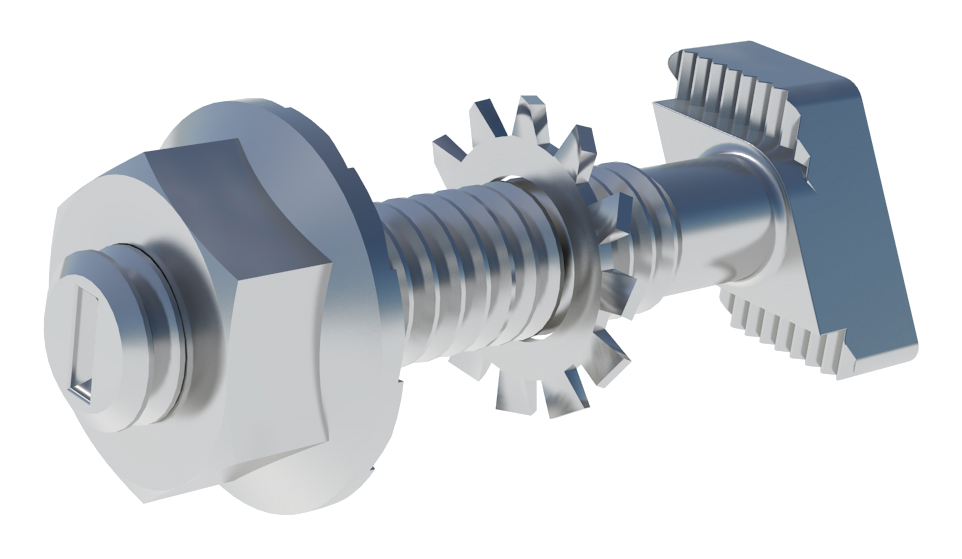 IronRidge FMLS-BHW Frameless Module Clamp Bonding Hardware, Qty 4