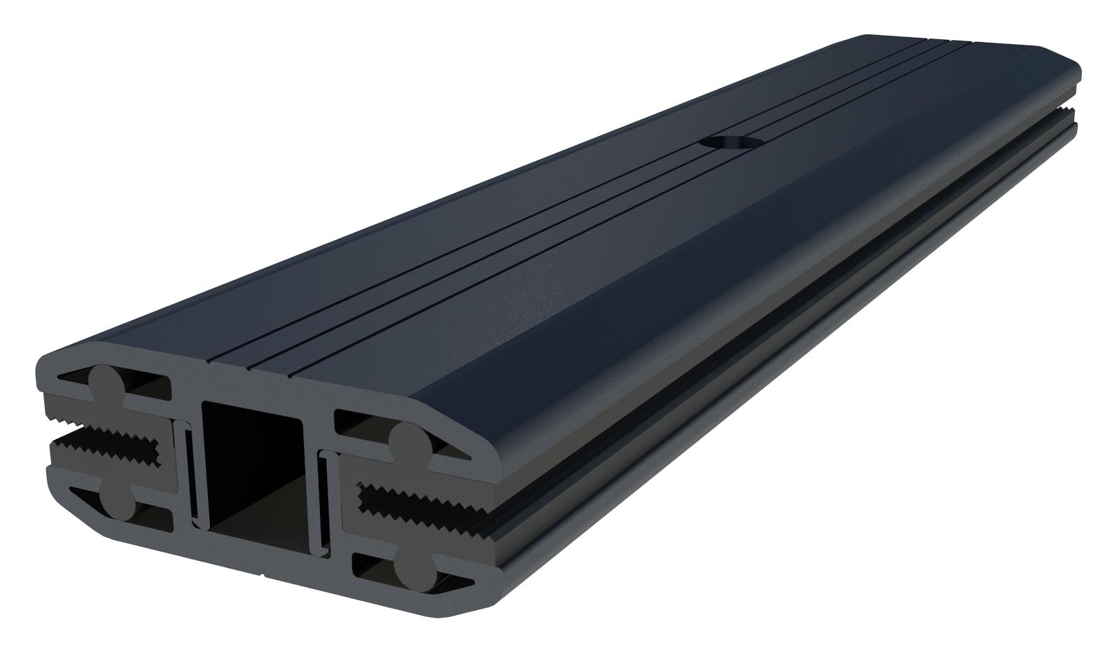 IronRidge FMLS-MC-001-B Frameless Module Mid Clamp, Black, Qty 1