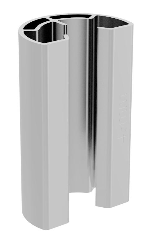 IronRidge UFO-STP-30MM-M1 Stopper Sleeve, 30MM, Clear, Qty 1
