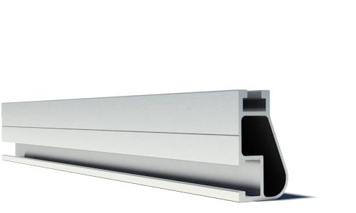 IronRidge XR-10-204A Anodized Rail, 17', Clear, Qty 1