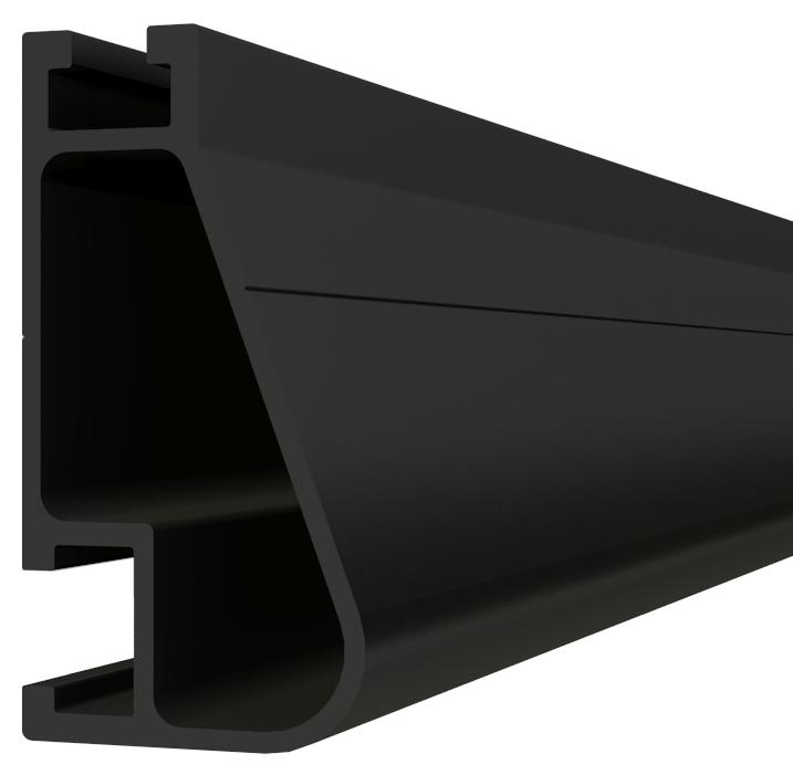 IronRidge XR-100-204B Anodized Rail, 17', Black, Qty 1