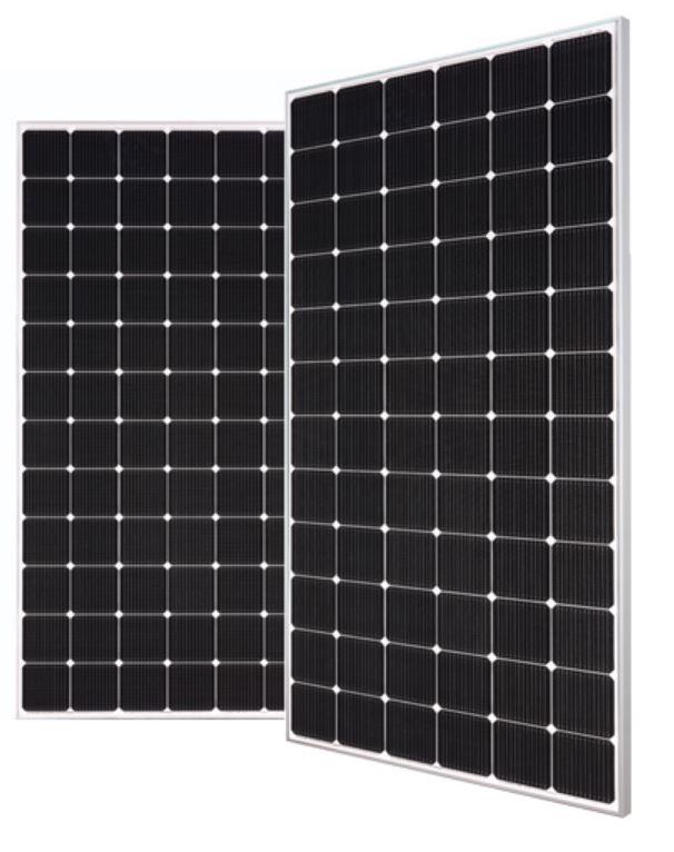 LG NeON 2 405W 72 Cell Mono 1500V SLV/WHT Solar Panel, LG405N2W-V5