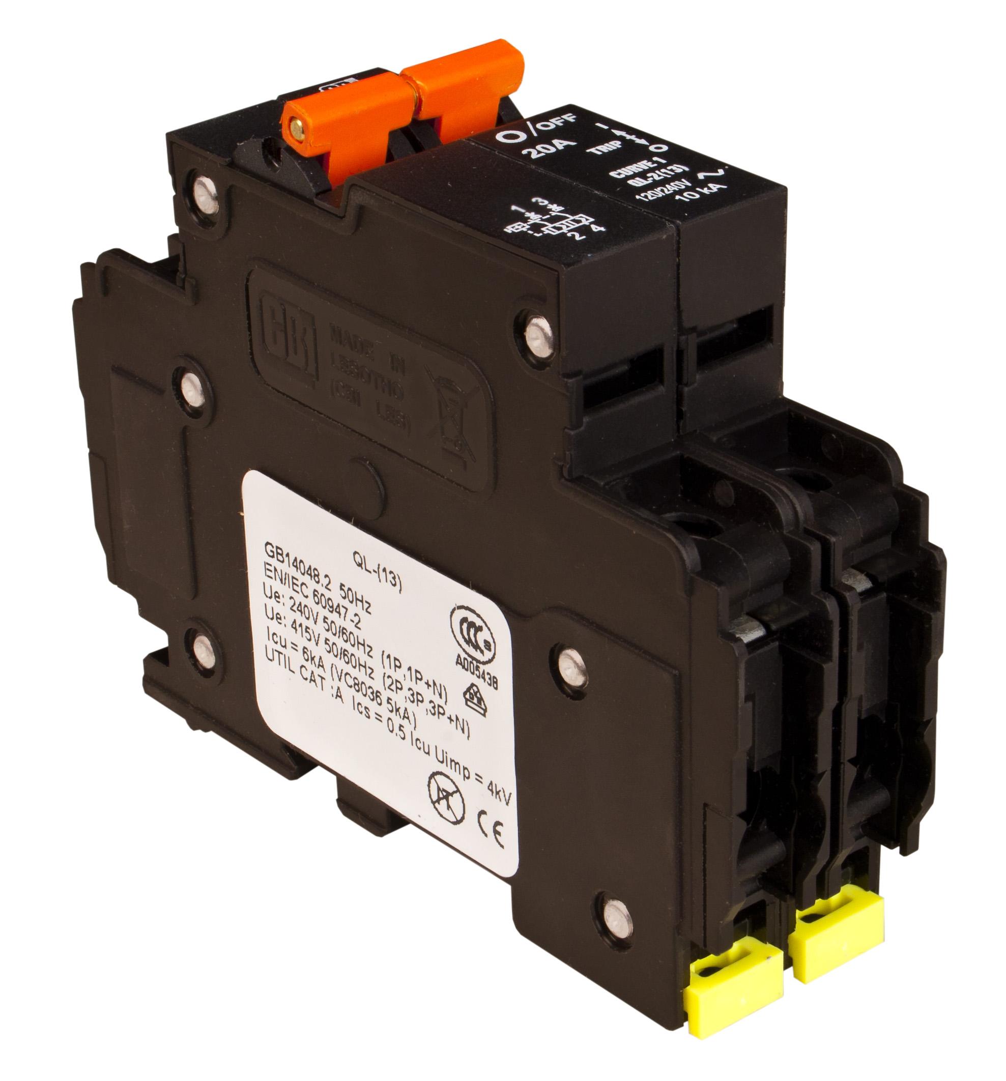 MidNite Solar MNEAC20-2P 20A 120/240VAC DIN Rail Breaker