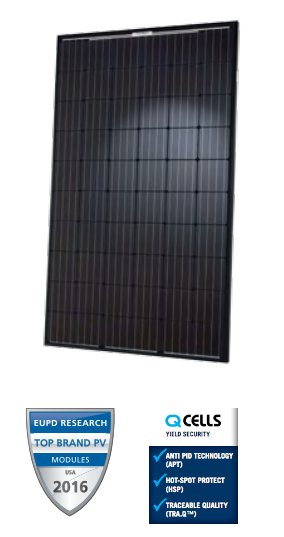 Q CELLS Q.PEAK BLK G4.1 290W BLK/BLK Solar Panel
