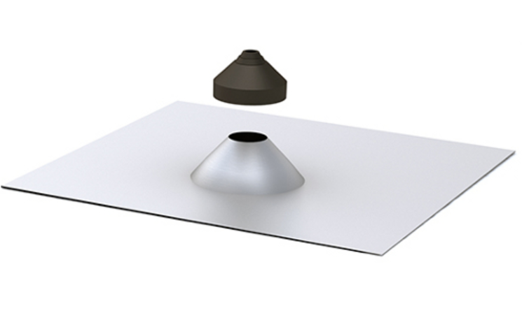 Quick Mount Quick Rack Conduit Penetration Flashing, Tile, Mill, QMCPT A, Qty 1
