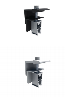 Quick Mount Universal End Clamp, 30-45mm, Black, QMR-UEC3045 B, Qty 1