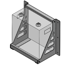 SimpliPhi Mounting Brackets for 3.8kWh LFP Battery