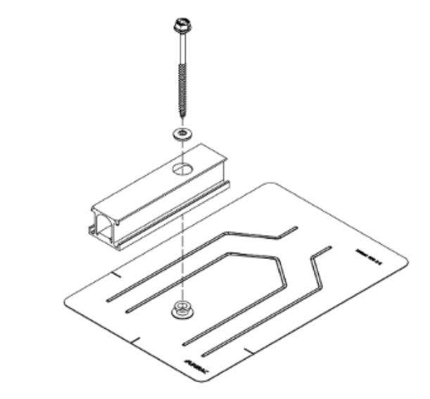 Unirac SFM Infinity Flashkit for Comp Shingle Roof, Slider, Dark, 004270D, Qty 1