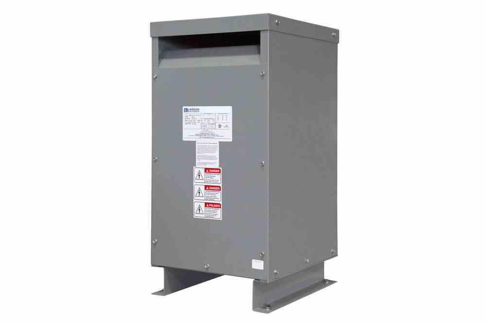 15 KVA Medium Voltage Distribution Transformer, 4160V Primary, 600V Secondary, NEMA 1