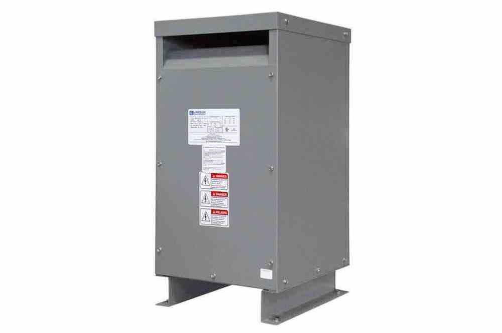 37.5 kVA 1PH DOE Efficiency Transformer, 440V Primary, 110/220V Secondary, NEMA 3R, Ventilated, 60 Hz