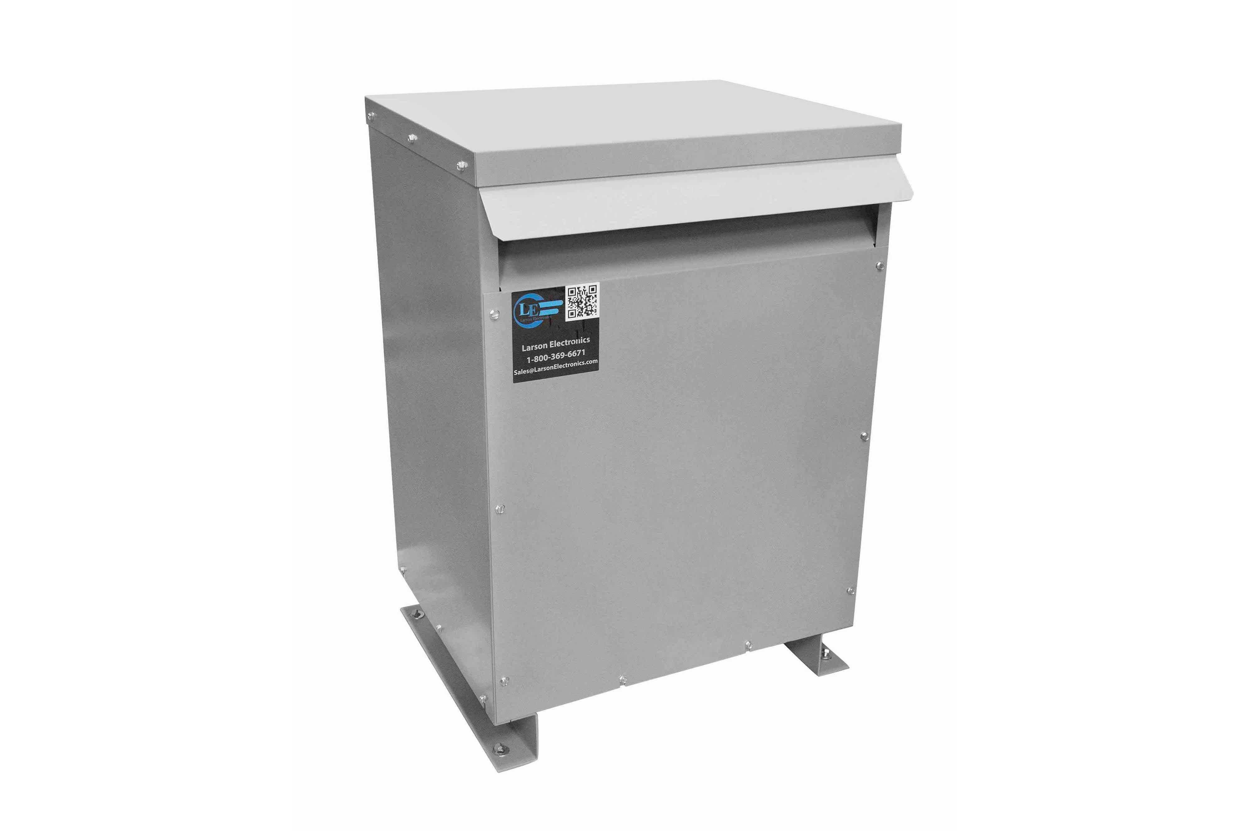 52.5 kVA 3PH Isolation Transformer, 400V Delta Primary, 208V Delta Secondary, N3R, Ventilated, 60 Hz