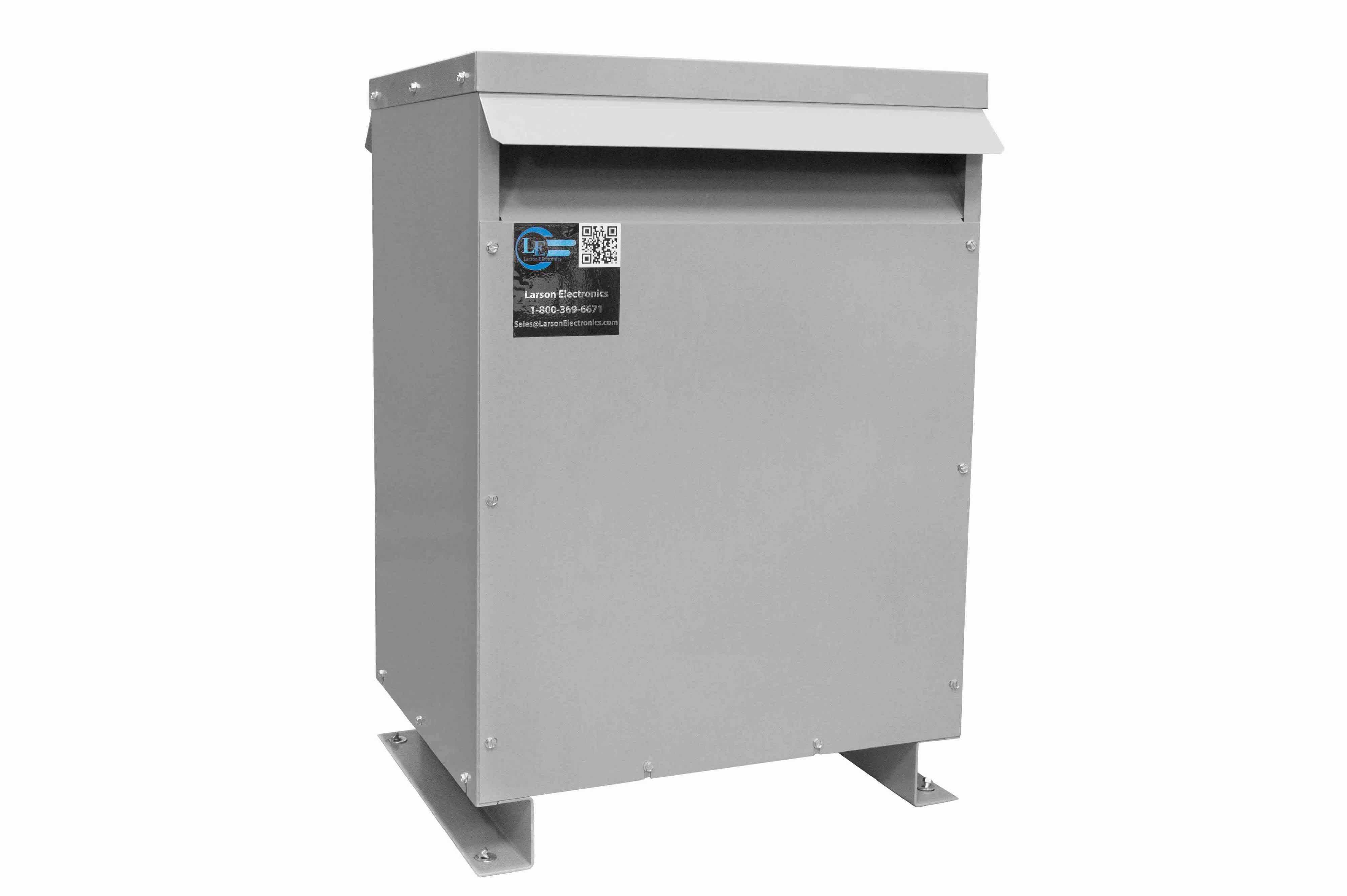 9 kVA 3PH DOE Transformer, 208V Delta Primary, 400Y/231 Wye-N Secondary, N3R, Ventilated, 60 Hz