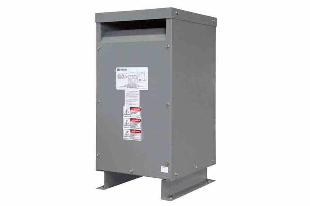 98 kVA 1PH DOE Efficiency Transformer, 460V Primary, 230V Secondary, NEMA 3R, Ventilated, 60 Hz