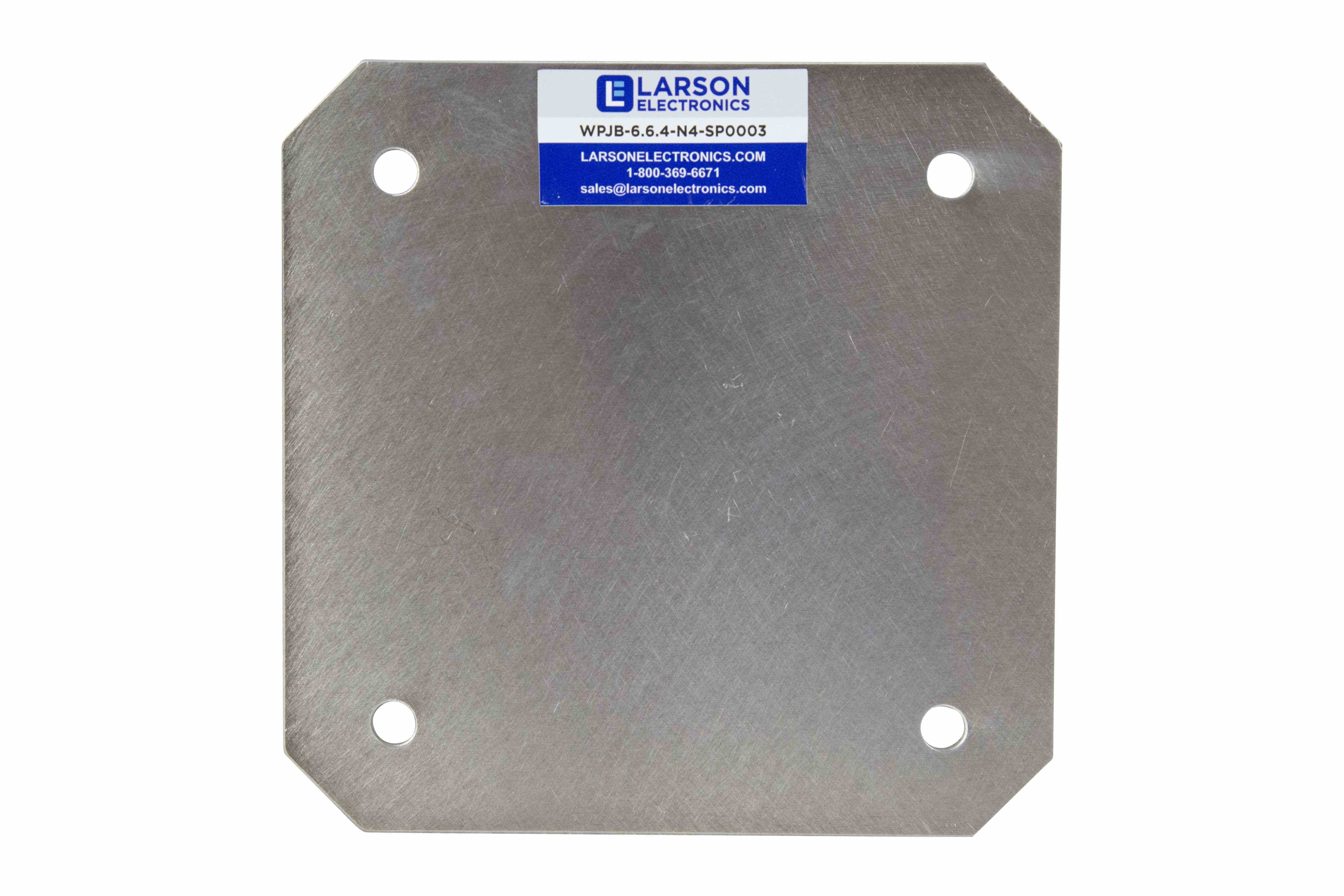 Aluminum Back Plate for EPL-AEB-16.16 Series Explosion Proof Enclosure, Internal Bolt-In Mounting Pan