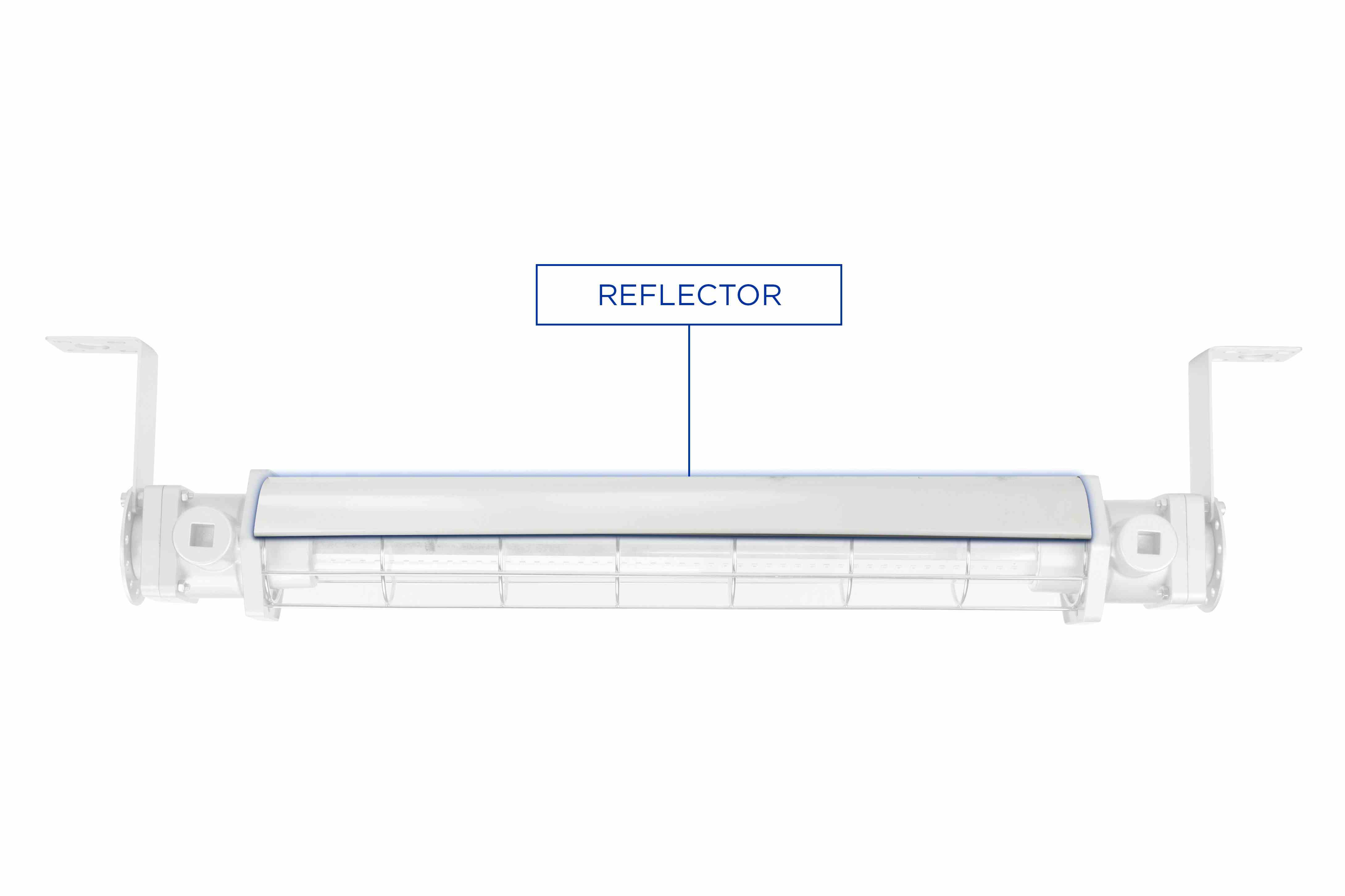 Metal Reflector for EPL-LP-24-LED Series Fixtures.