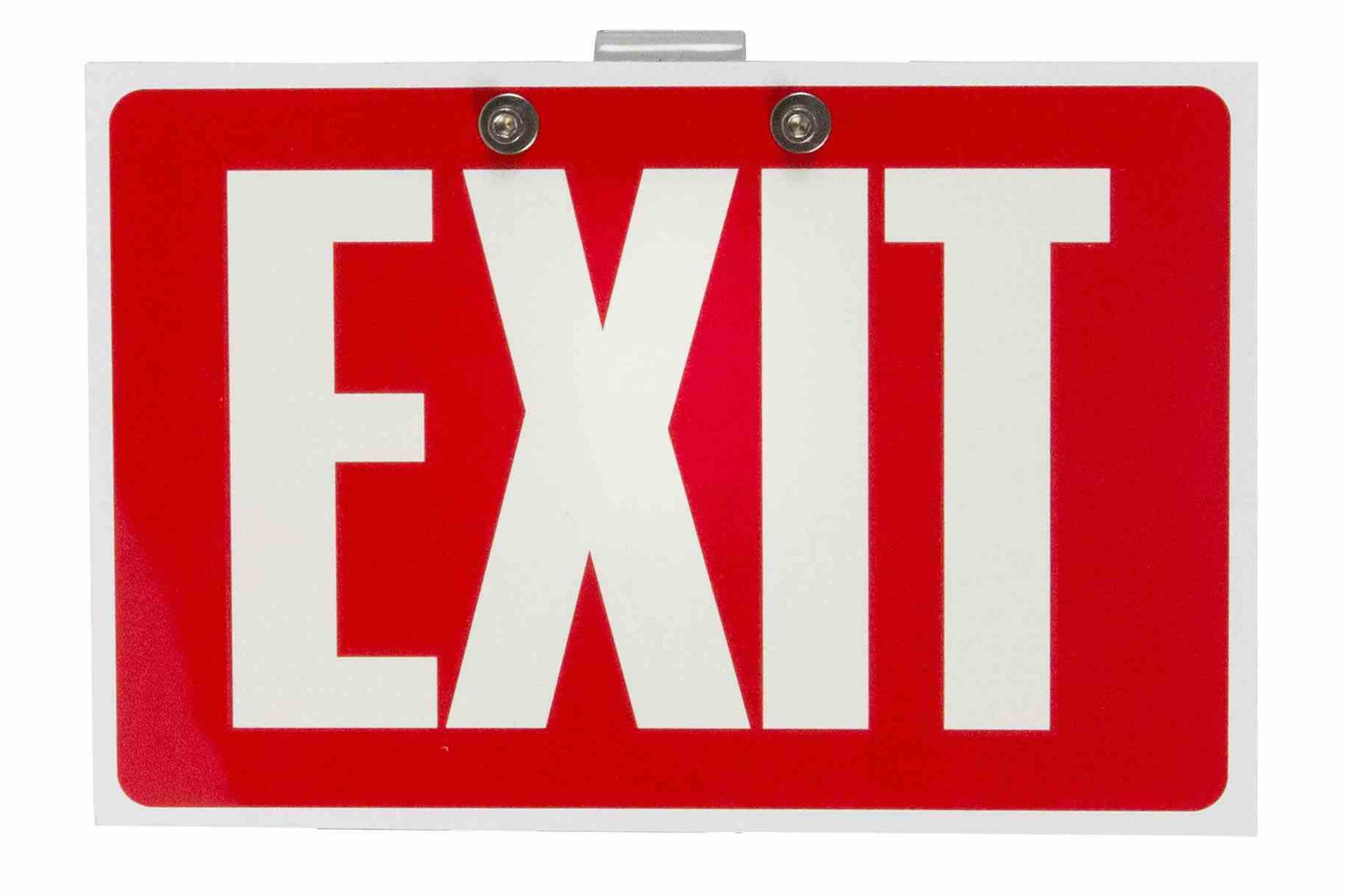 Replacement Exit Sign Laminate for EXP-EMG-EXT-LE6-3L Emeregency Exit Signs