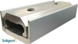 ProSolar:ProSolar, Universal Self-Grounding Splice, includes hardware, Clear, Qty. 1, A-SPLICE-1-G